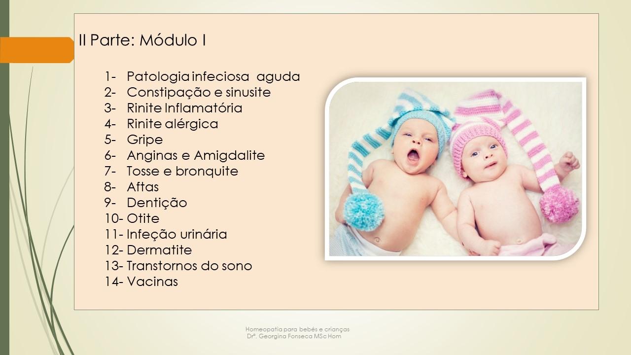 Curso de Homeopatia para Pais Módulo I