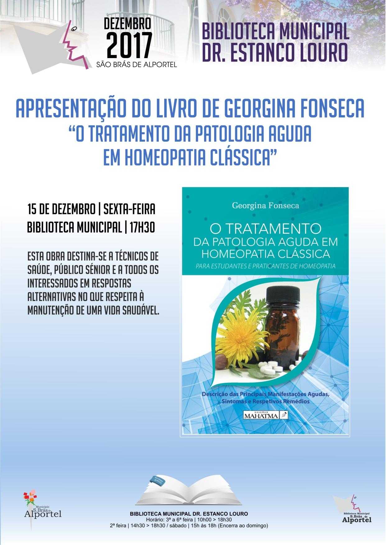 cartaz de apresentação do livro de Georgina Fonseca